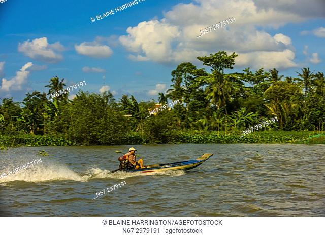 Ba Rai River, nar Ha Xuan, near Cai Lay, Mekong Delta, Vietnam
