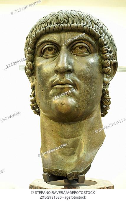 Constantine. Age of constantine, Probably 330-337 AD. Gilded Bronze. Musei Capitolini - Rome, Italy