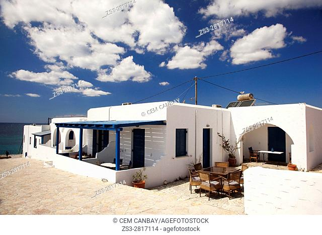 Whiteashed Cyclades house by the sea, Koufonissi, Cyclades Islands, Greek Islands, Greece, Europe