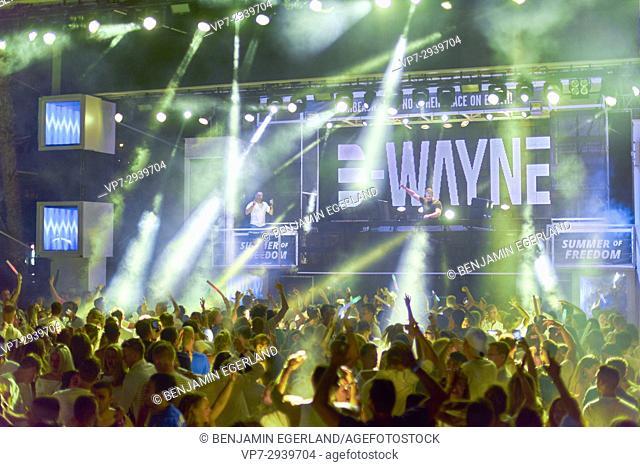 DJ D-Wayne at music festival Starbeach on 10. July 2017, in Hersonissos, Crete, Greece