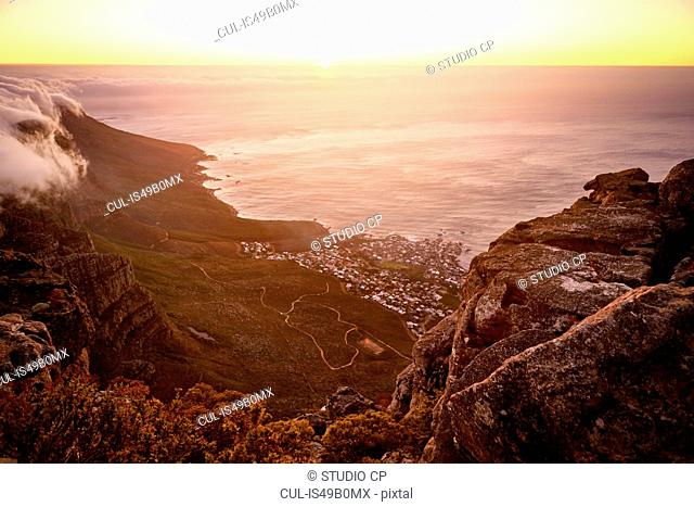 View from Table Mountain, Cape Town, South Africa, Africa