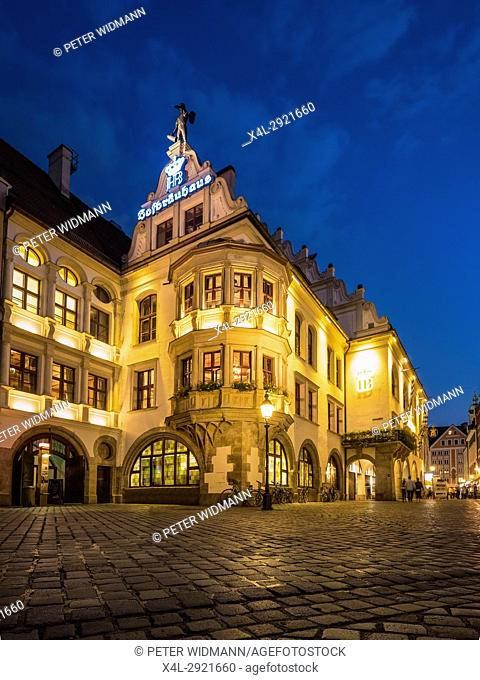 Hofbraeuhaus, famous beer hall in Munich, Bavaria, Germany, Europe