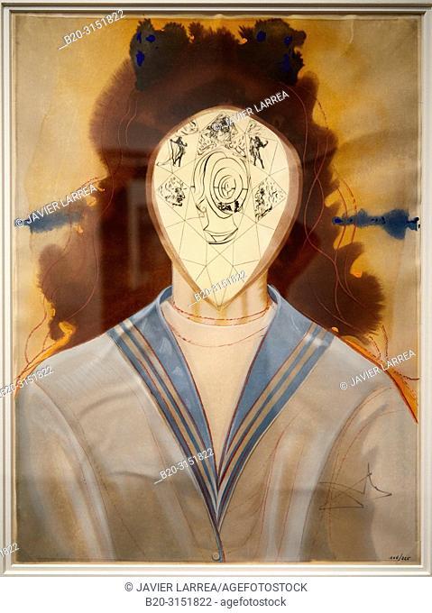"""""""L'Immortalité"""", 1976, Salvador Dalí, Exhibition """"Gala Salvador Dalí. A Room of One's Own in Púbol"""", National Museum of Catalan Art"