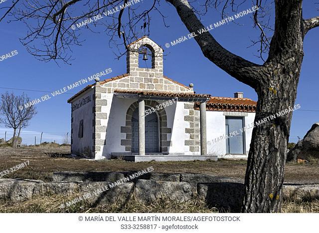 St. Cristobal hermitage in Sierra Paramera. Avila. Spain. Europe