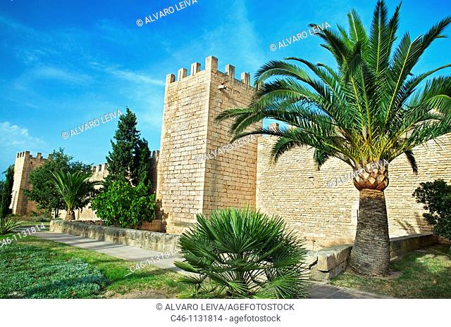 Old walls.14th and 16th century. Alcudia. Majorca. Balearic Islands. Spain