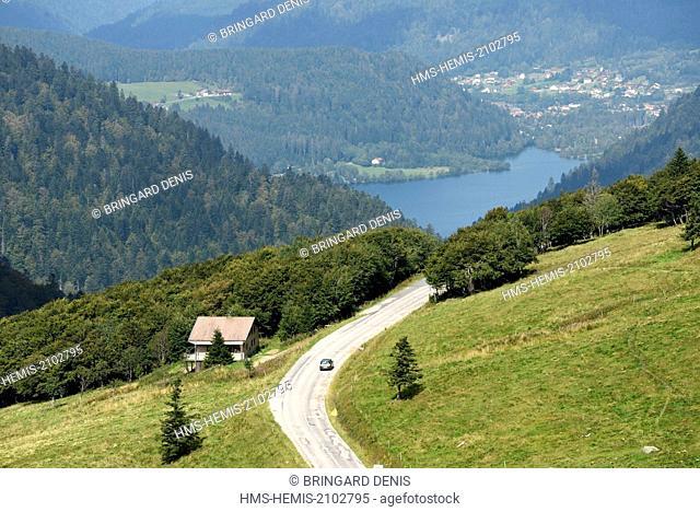 France, Vosges, Hautes Vosges, from Hohneck, Route des Cretes, Longemer Lake, Vallee des Lacs