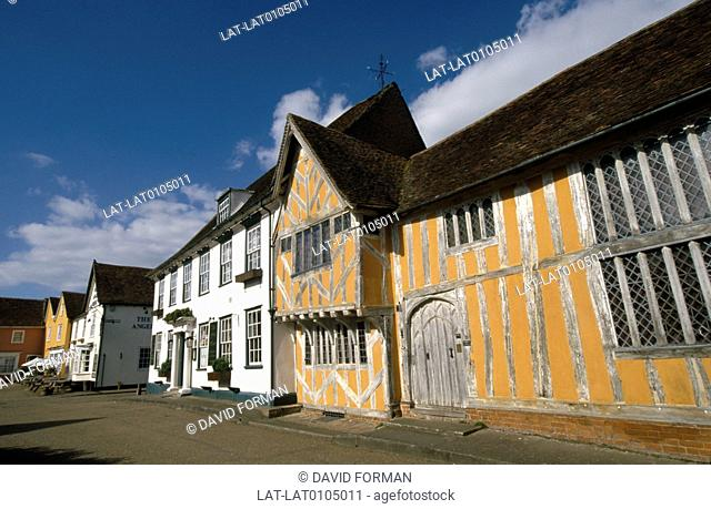 Lavenham is a medieval village in Suffolk,England famous for its impressive Fifteenth Century church and half-timbered medieval cottages