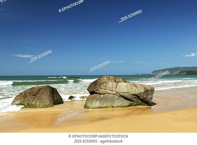 Rocks on beach at Agonda, Goa, India