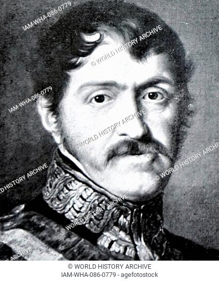 Portrait of Infante Carlos, Count of Molina (1788-1855) an Infante of Spain and first of the Carlist claimants to the throne of Spain
