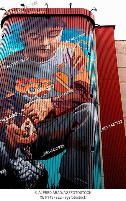 graffiti, espai jove Kesse, Tarragona, Catalonia, Spain