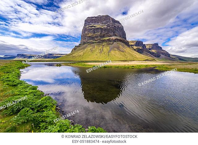 Lomagnupur mount in south part of Iceland