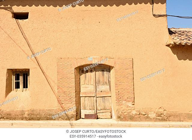 Traditional house of Valqunquillo, Tierra de Campos, Valladolid province, Spain