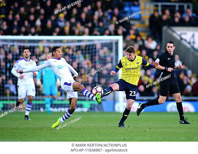 2017 FA Cup 4th Round Oxford United v Newcastle United Jan 28th. 28th January 2017, Kassam Stadium, Oxford, Oxfordshire, England, FA Cup 4th round football