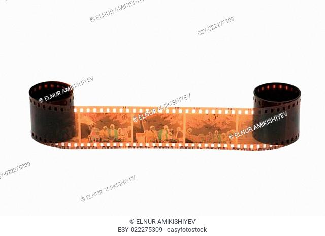 Roll of film isolated on the white background