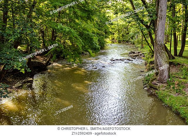 The Great Miami River that runs through Shelby County Ohio
