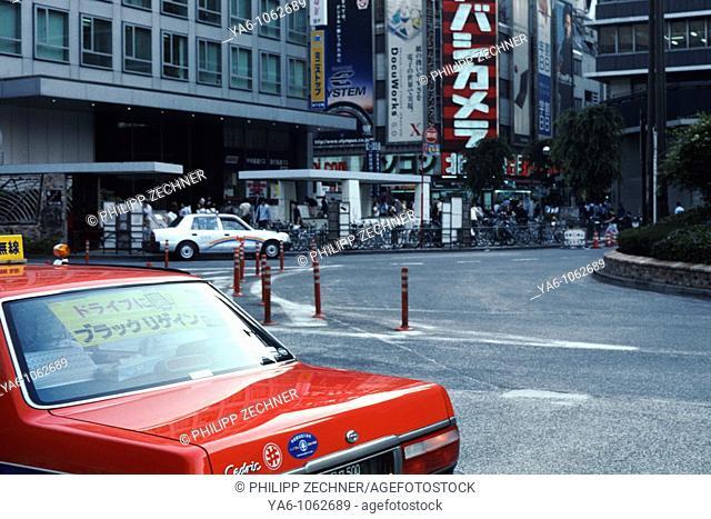 A taxi in Shinjuku, central Tokyo, 2006