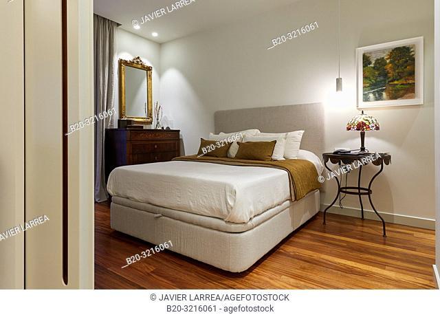 Sliding door, bedroom, Home, Decoration, Donostia, San Sebastian, Gipuzkoa, Spain, Europe