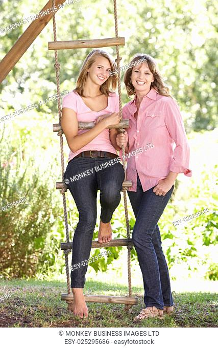 Mother And Teenage Daughter By Treehouse