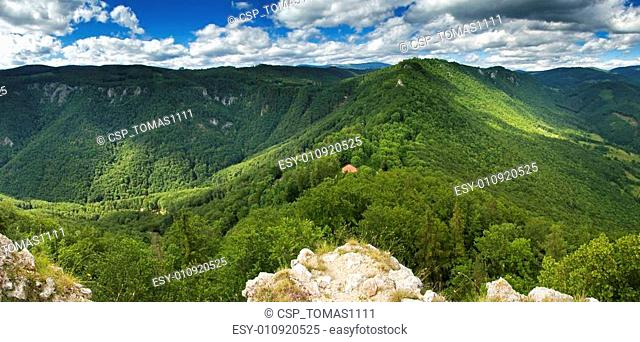 Green Mountains Photo was taken from Castle Muran in mountains Muranska planina Slovakia
