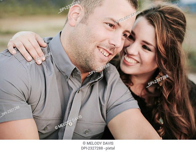 Portrait of a couple;White rock british columbia canada