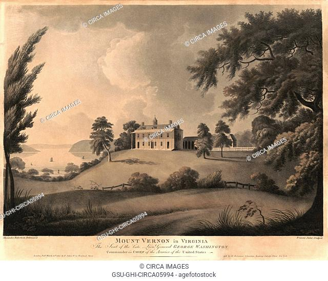Mount Vernon in Virginia, the Seat of the Late Lieut. General George Washington, Commander in Chief of the Armies of the United States