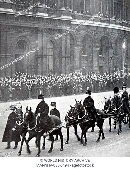Photograph of the funerary procession of King George V (1865-1936). Dated 20th Century