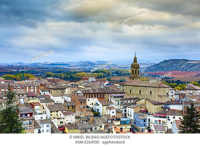 Cenicero village. La Rioja, Spain, Europe