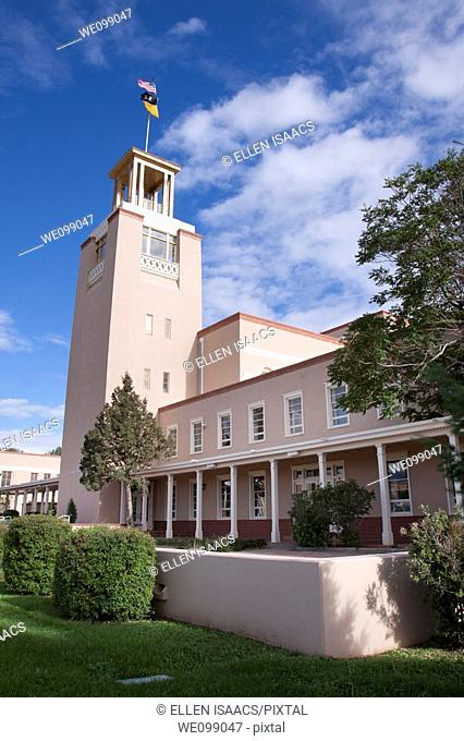 Bataan Memorial Building, the former New Mexico state capitol building in Santa Fe