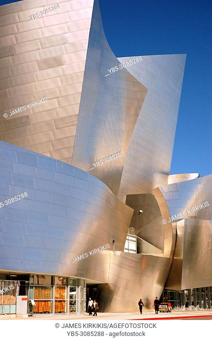 A modern architecture of the Walt Disney Concert Hall, Los Angeles