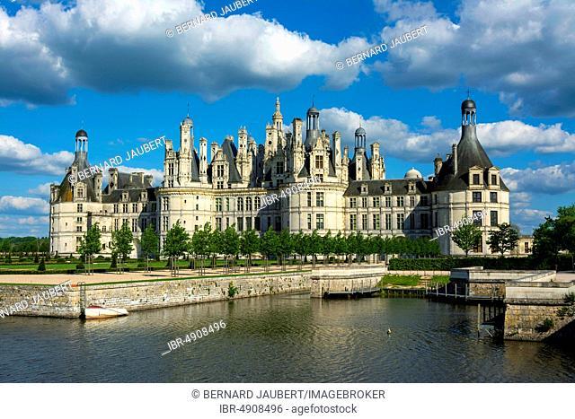 Royal Chateau at Chambord, Loire valley, Loir-et-Cher department, Centre-Val de Loire, France