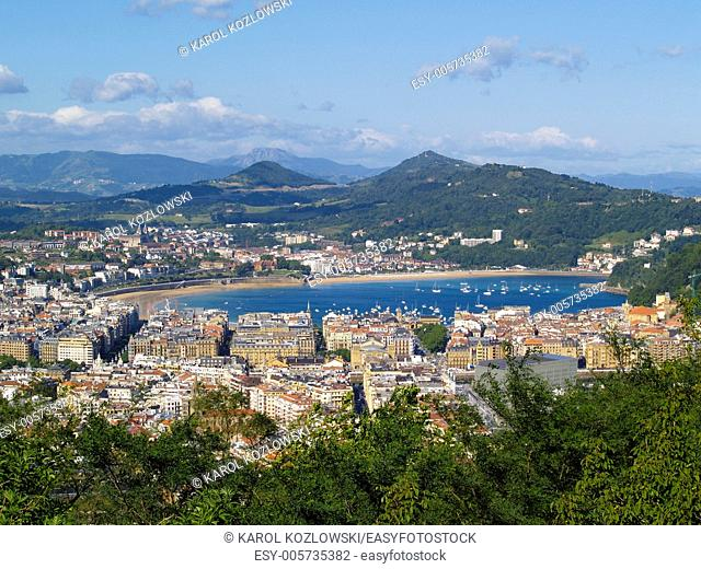 Donostia - San Sebastian - view from Mont Ulia, Basque Country, Spain