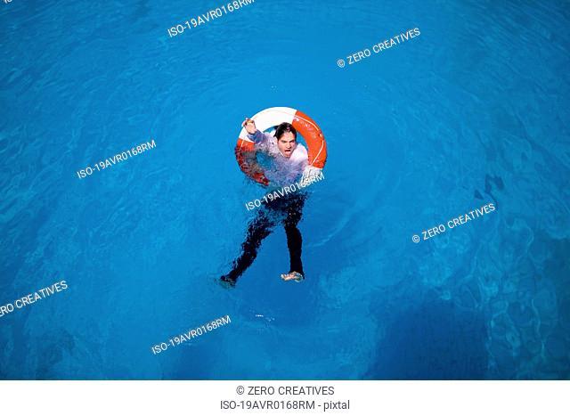 Man in a lifesaver