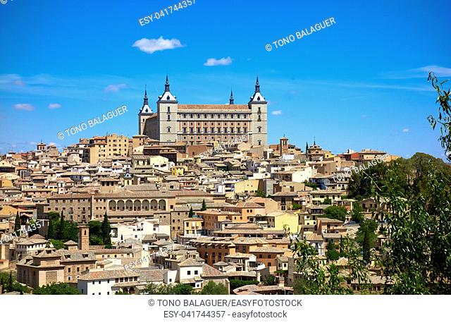 Toledo skyline in Castile La Mancha of Spain