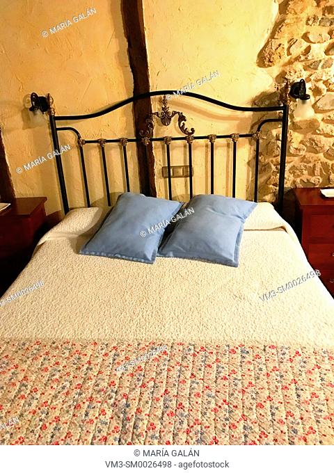 Bedroom in rural house. Palencia, Spain