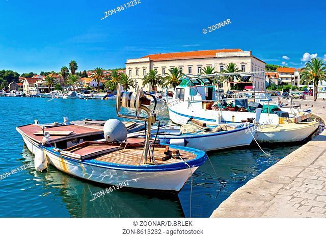 Fishing boat in Stari Grad harbor, Island of Hvar, Croatia