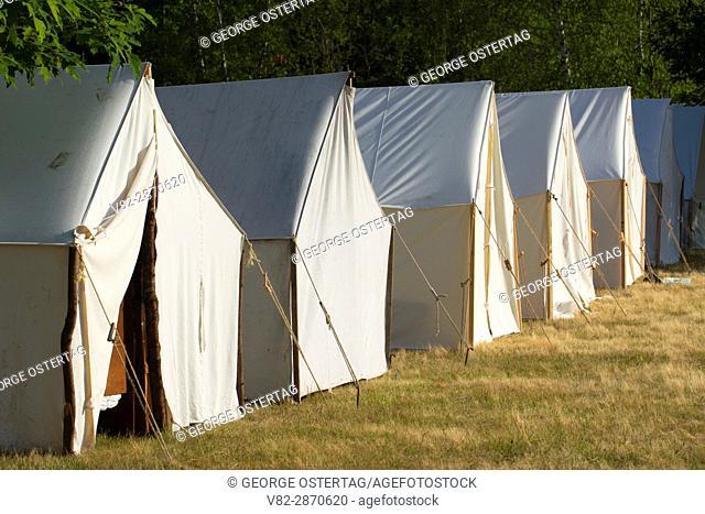 Camp tents, Civil War Re-enactment, Willamette Mission State Park, Oregon