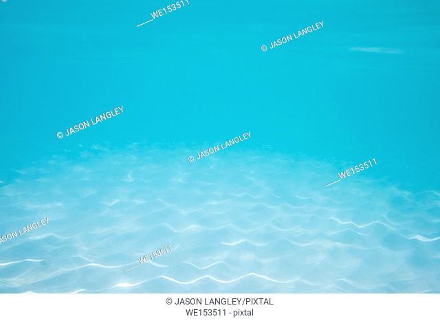 White sand and blue water underwater texture, Boracay Island, Aklan Province, Western Visayas, Philippines