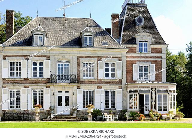 France, Ardennes, Signy l'Abbaye, Castle Montaubois transformed into private lodging