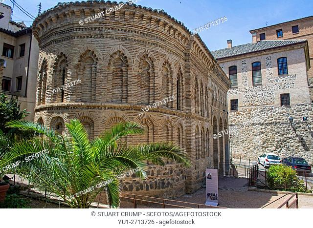 Entrance to the Mosque of Christ of the Light in Toledo Spain