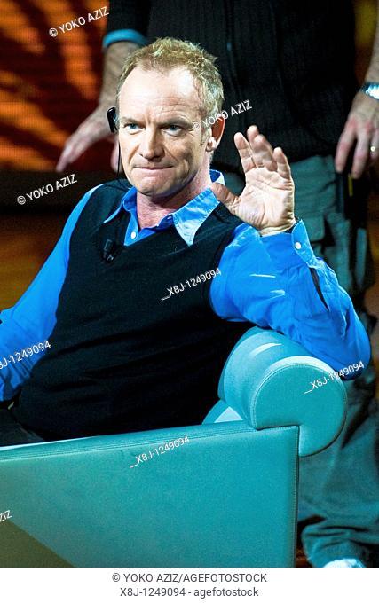 31 10 2010, Milan, 'Che tempo che fa' telecast, Sting