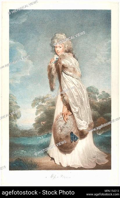 Miss Elizabeth Farren, Countess of Derby. Artist: Francesco Bartolozzi (Italian, Florence 1728-1815 Lisbon); Artist: After Sir Thomas Lawrence (British