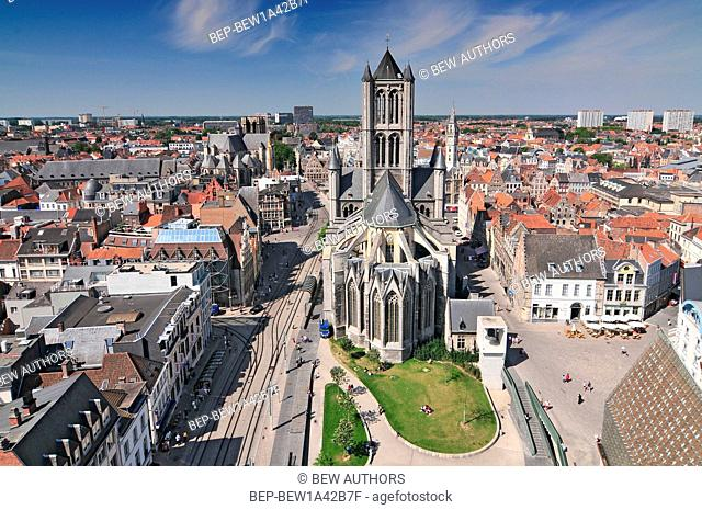 St. Bavo Cathedral on September 12 2010 in Ghent Belgium