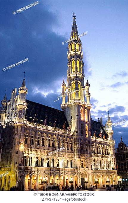 City Hall, Grand Place. Brussels, Belgium