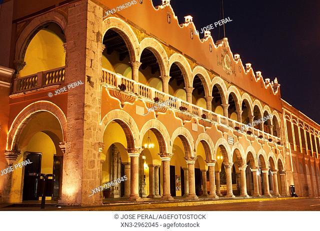 Palacio Municipal, Zocalo, Town Hall, Plaza Grande, Big Square, Mérida, Yucatán state, México, Central America