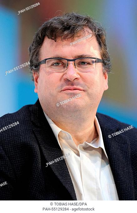 Reid Hoffman, author, businessman and co-founder of the networking platform 'LinkedIn', speaks at the DLD (Digital-Life-Design) Conference in Munich, Germany