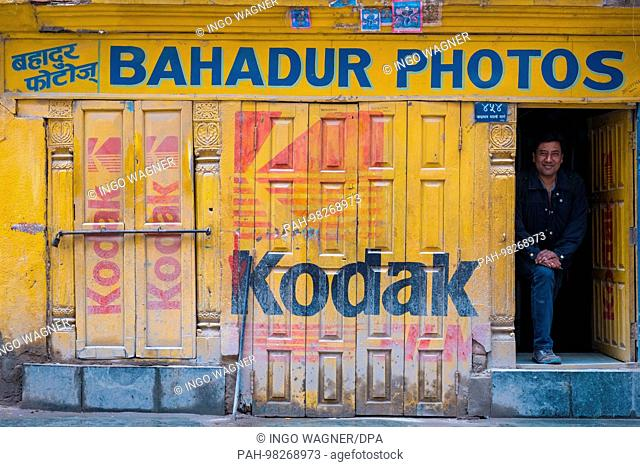Age Kodak photoshop in the nepali capital Kathmandu.   usage worldwide. - Kathmandu/Nepal
