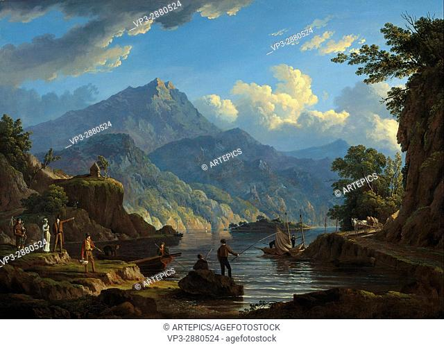 John Knox - Landscape with Tourists at Loch Katrine - National Galleries of Scotland