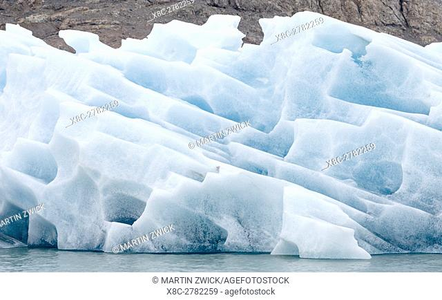Glaciers in the Qalerallit Imaa Fjord in southern greenland. America, North America, Greenland, Denmark