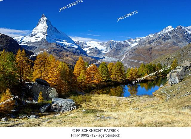 Matterhorn and Grindjisee, Valais, Switzerland