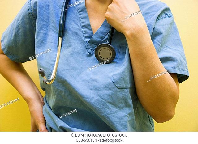 Close-up of Doctor and Stethoscope